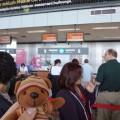 BP空港チェックインカウンター
