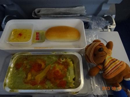 機内食 夕食