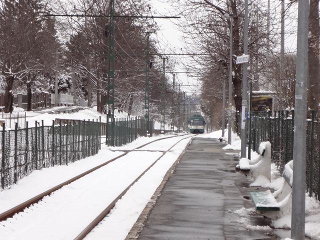 2013年3月15日雪景色の線路
