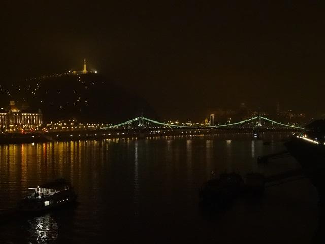 ドナウ川夜景 自由橋