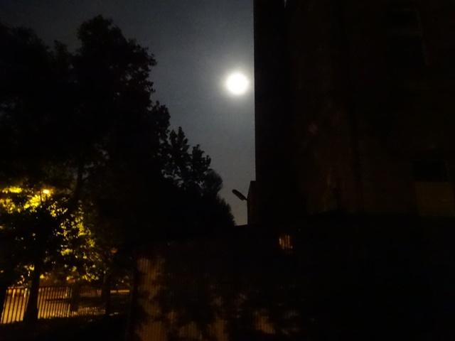 2014年10月9日早朝の満月