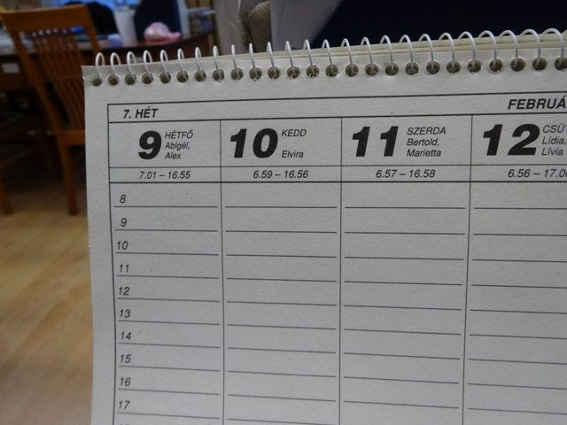 2月カレンダー・2