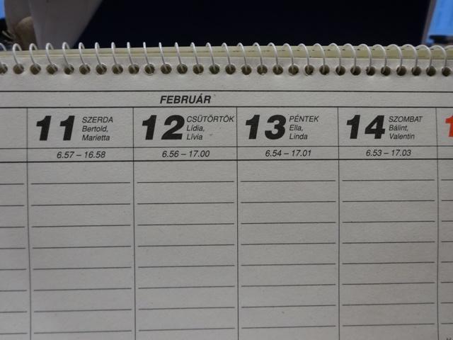 2月カレンダー・3