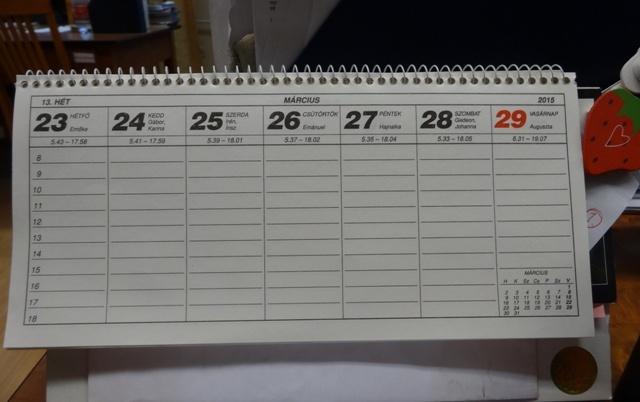 カレンダー3月