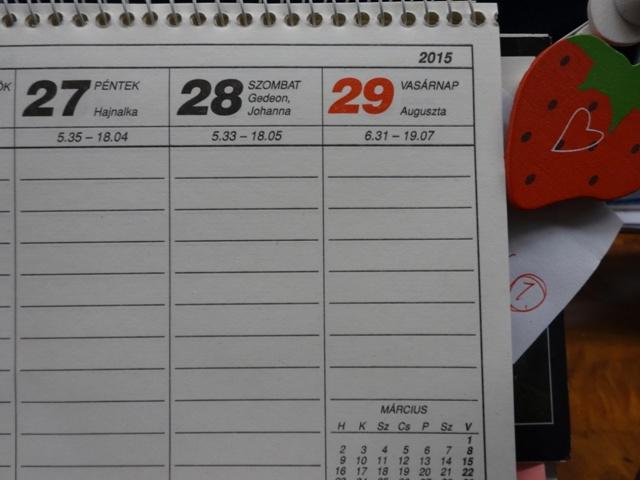 カレンダー28日29日