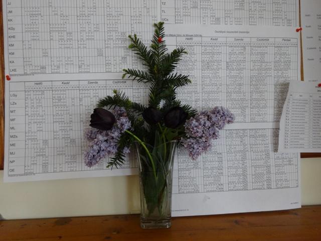 卒業式 花瓶