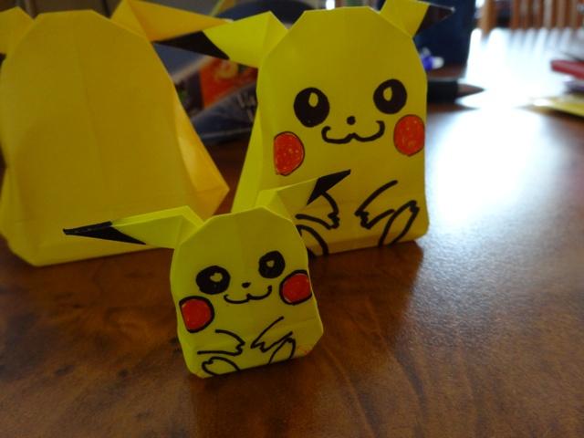 折り紙ピカチュウ