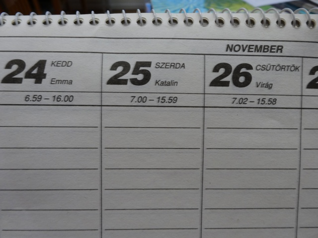 カレンダーアップ