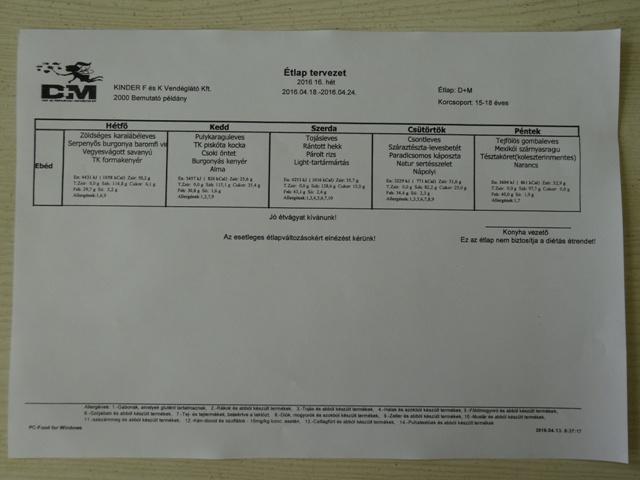 4月18日~22日給食メニュー