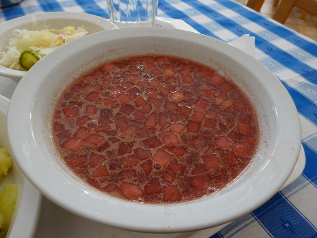 フルーツスープ