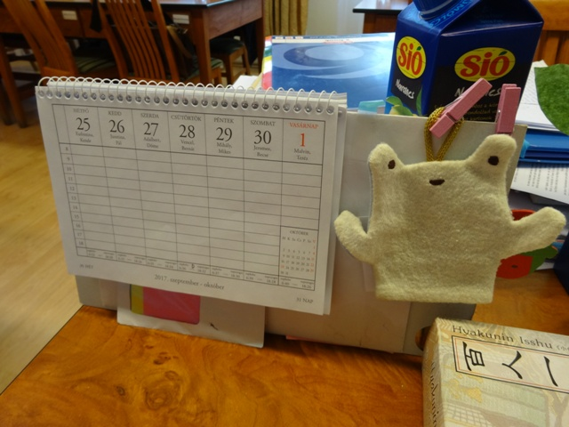 職場の卓上カレンダー
