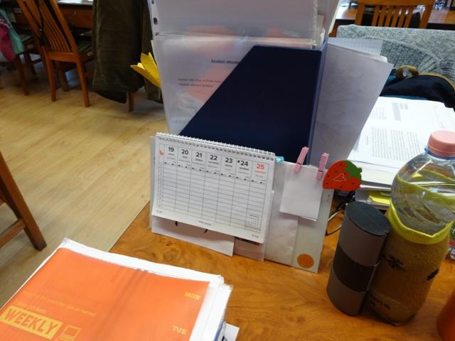 職員室の机