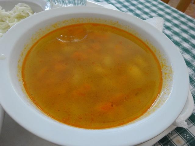 自家製お団子のスープ