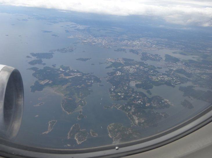 フィンランド上空