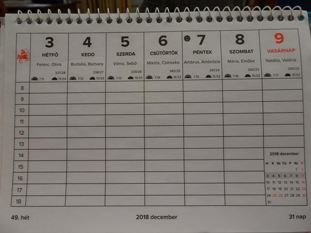 卓上カレンダー1