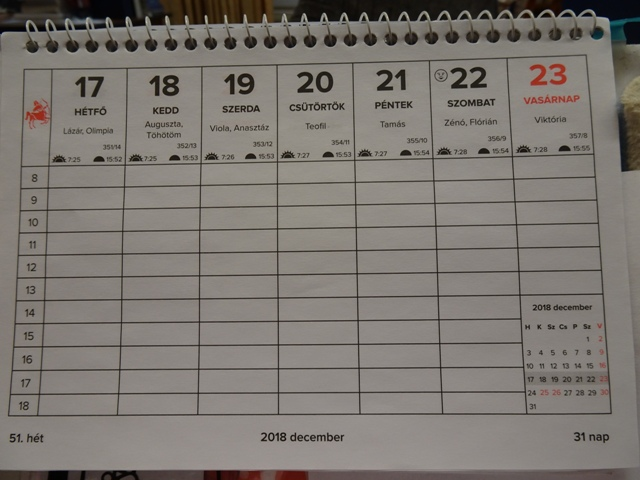 卓上カレンダー3
